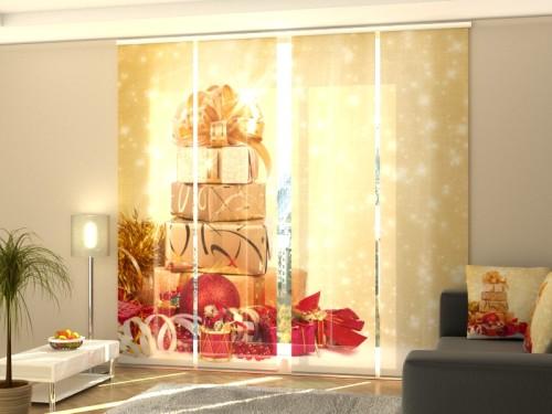 """Kalėdinė lango širma iš 4 dalių """"Dovanos"""""""