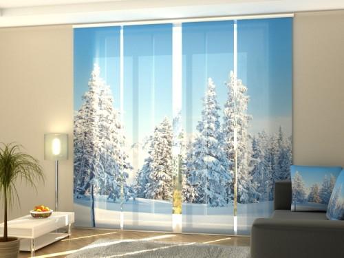 """Kalėdinė lango širma iš 4 dalių """"Eglių miškas"""""""
