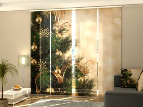 """Kalėdinė lango širma iš 4 dalių """"Eglutė"""""""