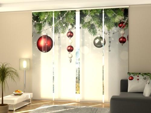 """Kalėdinė lango širma iš 4 dalių """"Kalėdų dėkoracija"""""""