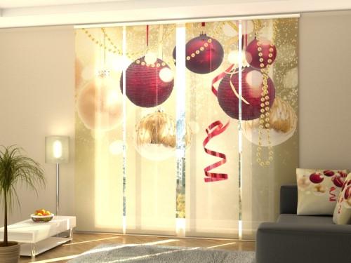 """Kalėdinė lango širma iš 4 dalių """"Kalėdų spindesys"""""""