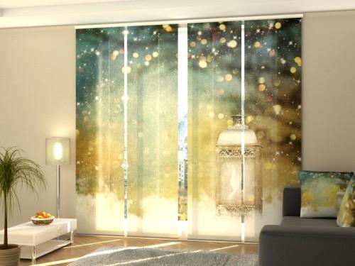 """Kalėdinė lango širma iš 4 dalių """"Kalėdų žibintas"""""""