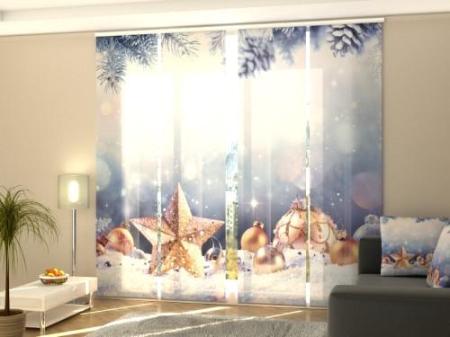 """Kalėdinė lango širma iš 4 dalių """"Kalėdų žvaogždė"""""""