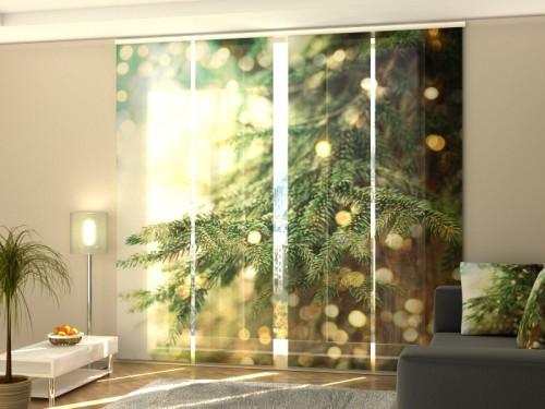 """Kalėdinė lango širma iš 4 dalių """"Magiška eglutė"""""""