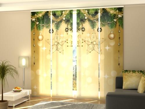 """Kalėdinė lango širma iš 4 dalių """"Naujieji metai"""""""