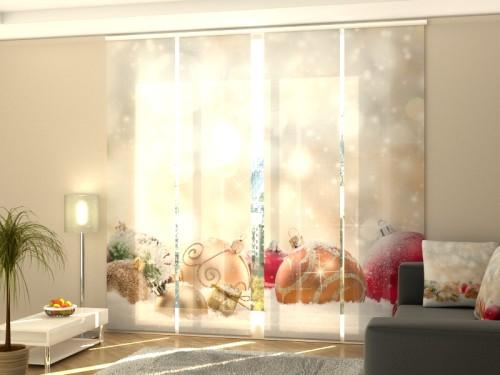 """Kalėdinė lango širma iš 4 dalių """"Švieselės"""""""