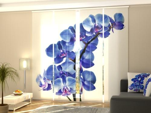 """Lango širma iš 4 dalių """"Mėlyna orchidėja"""""""