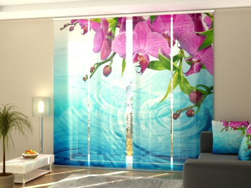 """Lango širma iš 4 dalių """"Nuostabi orchidėja"""""""