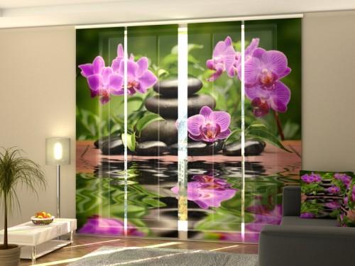 """Lango širma iš 4 dalių """"Sodo orchidėjos"""""""