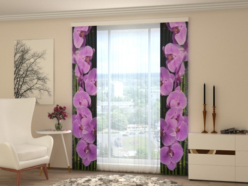 """Lango širma """"Violetinės orchidėjos"""""""