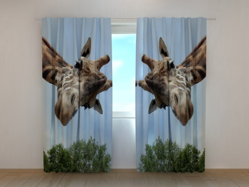 """Naktinės užuolaidos """"Dvi žirafos"""""""